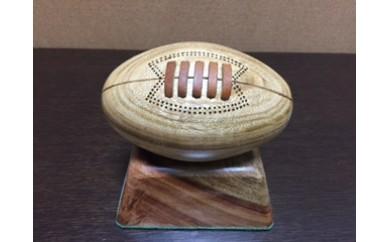 東大阪で手作り 木製ラグビーボール 13×7.5