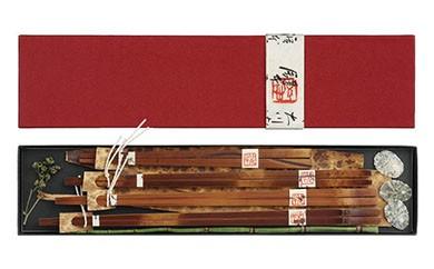 AG02 煤竹(すすたけ)箸セットA 【30000pt】