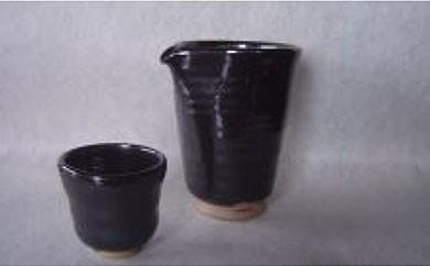 AA02 新庄東山焼 油滴冷酒器セット