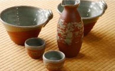 X001 平清水焼 山形満喫器セット~芋煮 日本酒~