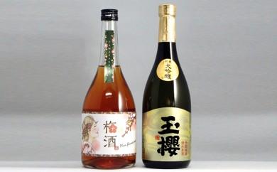 [№5859-0050]玉櫻 純米大吟醸 梅酒 720ml 2本セット