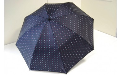 ネクタイ柄【紳士折りたたみ傘】  晴雨兼用傘紺色