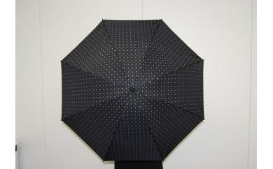 ネクタイ柄【紳士折りたたみ傘】  晴雨兼用傘黒色
