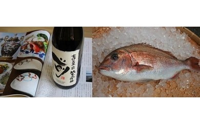 D090玄海灘産養殖真鯛で呑む至福の酒「古伊万里 前」