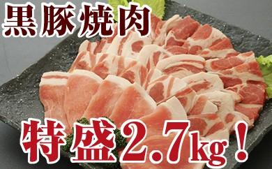 No.3019 黒豚焼肉の特盛2.7kg!ロースカルビ&肩ロースカルビセット