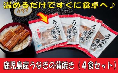 YB19.【数量限定】鹿児島産うなぎの蒲焼き(4食セット)
