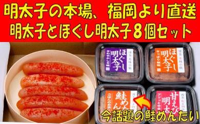 YB18.博多辛子明太子・ほぐし明太子のセット
