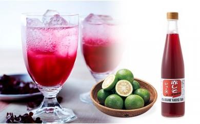 【A】有機かぼすと赤しそジュース