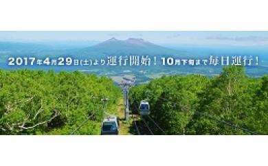 函館七飯スノーパーク グリーンシーズン・ゴンドラ往復ペアチケット引換券