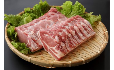 【C-107】山形県庄内SPF豚最上川ポークロースブロック4kg