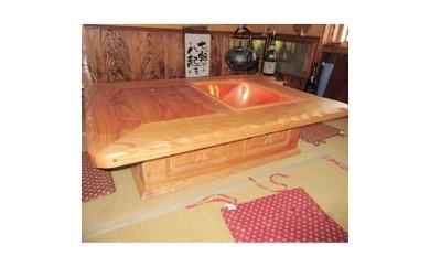 オリジナル囲炉裏テーブル
