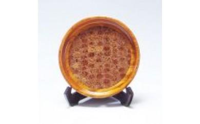 Q006 桃の実 象嵌盆(7寸)