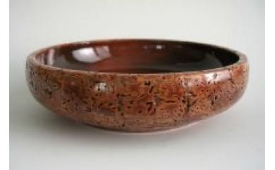 Q008 桃の実 菓子鉢