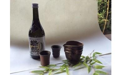B-0026 岡山県純米酒と備前焼酒器セット