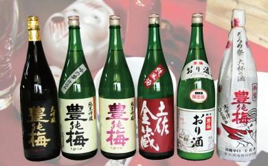 I-1 6種類の日本酒飲み比べ 豊能梅セット