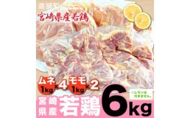 114_hn <宮崎県産若鶏6kgセット>平成30年6月末迄に順次出荷
