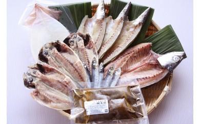 [№5684-1006]氷見 堀与地魚一夜干し5種と昆布じめのお刺身セット