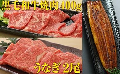 B-43 焼肉&うなぎセット《黒毛和牛(A4等級)カルビ+うなぎ蒲焼》