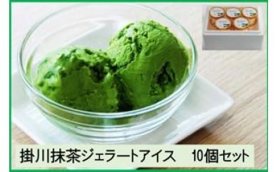 223 掛川抹茶ジェラートアイス 10個セット(1個120ml)