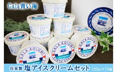 Gala青い海 自家製塩アイスクリームセット