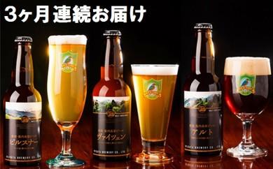 [№5769-0124]【3ヶ月連続お届け】胎内高原ビール 24本セット