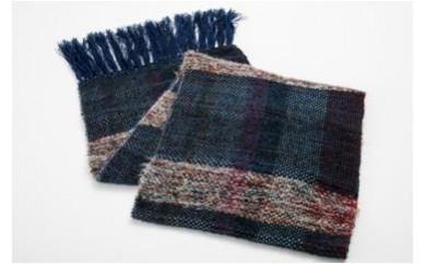 100 ニット手織マフラー(男性用)