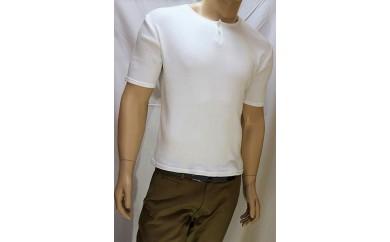 【I-60】コットンリブヘンリーネック半袖Tシャツ(メンズ)
