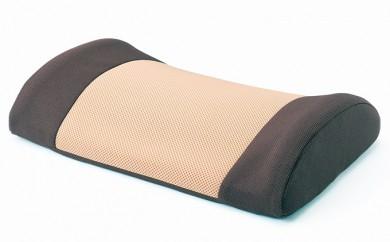 [№5820-0075]押圧による腰痛予防 「ゆらぎ ラ・クッション」 【色:ブラウン】