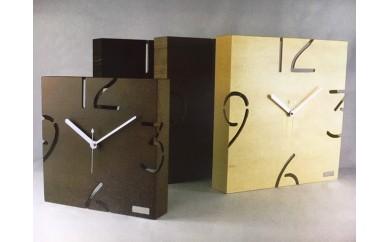 漆器生地さんが作る木工品『木製壁掛け時計』