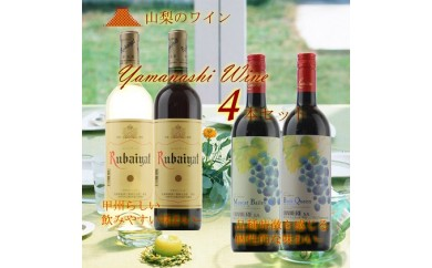 [№5768-0064]原産地呼称ワイン4本セット