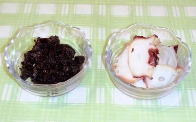 10-69 無添加 紋別のおいしいたこスモークと佃煮(6パック)