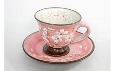B002 桜模様カップ&ソーサ(ピンク)1組【18000pt】
