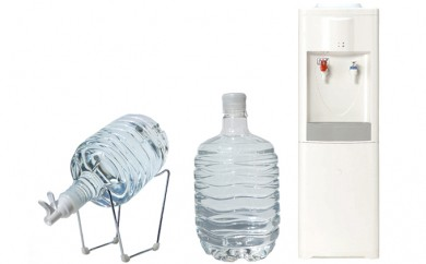 [№5819-0108]非加熱天然水 箱島湧水エアR-2 (8L 計20本、給水器:1セット、期間レンタルウォーターサーバー1台)