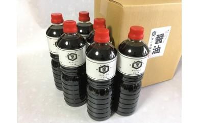[№5915-0192]富士屋醸造 濃口醤油1リットル詰 6本