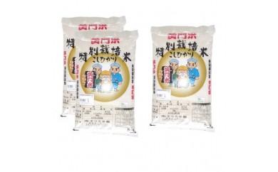 「黄門米」特別栽培米 コシヒカリ白米5kg×3袋