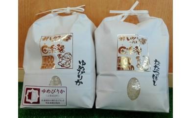 新しのつ産 田楽福米2㎏×2種(ななつぼし・ゆめぴりか)
