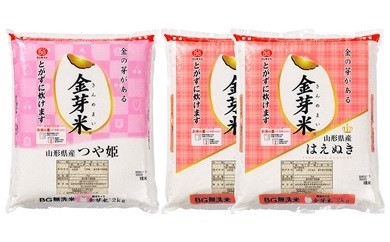 30A1021 はえぬき&つや姫無洗米(金芽米)