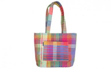 [№5696-3008]手織り布のトートバッグ