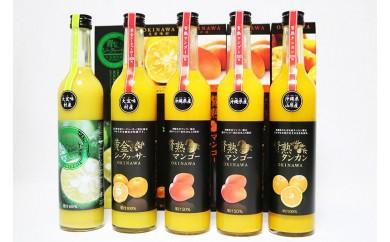 沖縄果実の贅沢ジュース5本(マンゴー、シークヮーサージュース、タンカン)