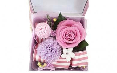 [№5696-3152]プリザーブドフラワー BOXアレンジメント/ピンク