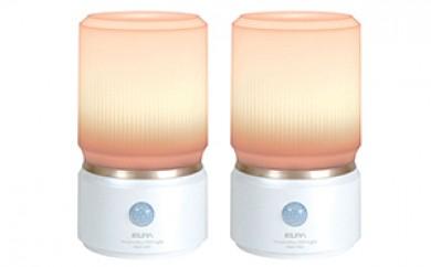 [№5696-3015]乾電池式 人感&明暗LEDセンサーライト 2台セット
