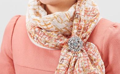 [№5696-3202]スカーフを豪華に決める「煌めきのスカーフ留め」