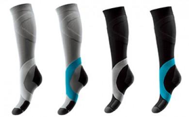 [№5696-3026]筋の活性化と足関節の安定をもたらす弾性ソックス4足セット(L)
