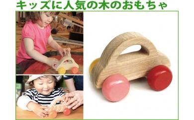 008-030キッズに人気の木のおもちゃ「押しぐるま」