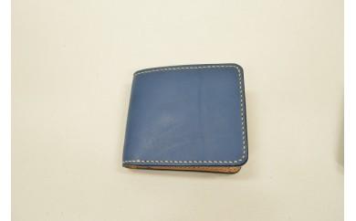 【AF161】minca/ハーフウォレット・カード/OIL/BLUE【71000pt】