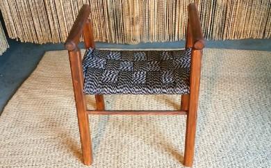 [№5682-0135]い草縄 椅子 杉