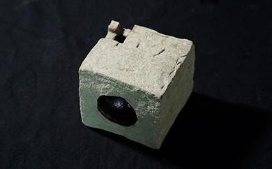 L-6 創作陶器・花器 「一輪挿し」(箱型)