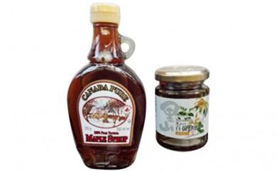 【A171】国産百花蜂蜜&カナダ産メープルシロップ