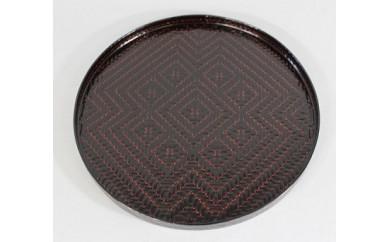I111 籃胎漆器 アジロ丸盆(黒)