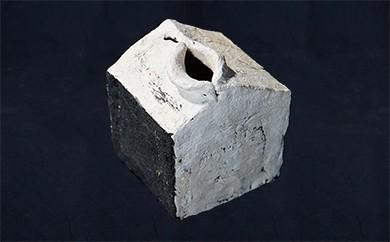 L-7 創作陶器・花器 「一輪挿し」(家型)